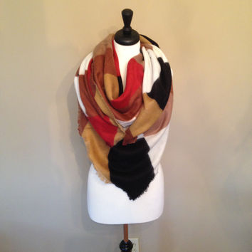 Southwest Blanket Scarf by KnitPopShop