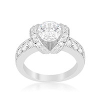 Tension Set Engagement Ring, size : 07