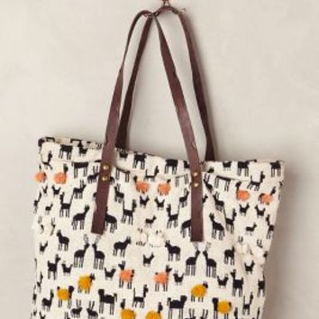 Pommed Herd Tote by Jasper & Jeera Black & White One Size Bags