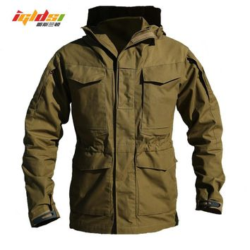 M65 UK US Army Clothes Casual Tactical Windbreaker Men Winter Autumn Waterproof Flight Pilot Coat Hoodie Military Field Jacket