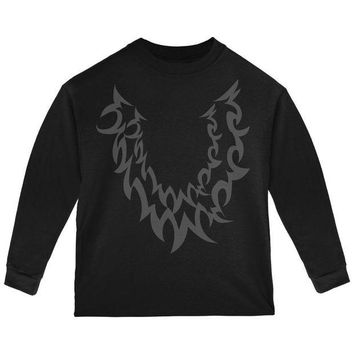 LMFCY8 Halloween Wolf Costume Black Toddler Long Sleeve T Shirt
