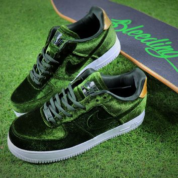 Nike Air Force 1 '07 Low Velvet Sport Shoes AF1 Green Sneaker - Best Online Sale