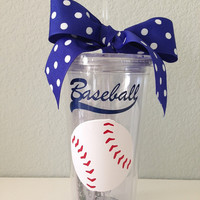 20oz Personalized Baseball is Life Tumbler