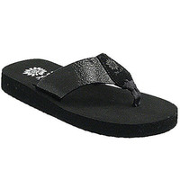 Yellow Box Savana Black Flip Flops