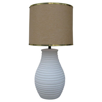 Ceramic Lamp w/ Fiberglass Shade