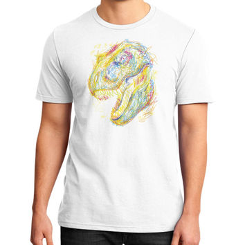 Kids Draw T Rex District T-Shirt (on man)
