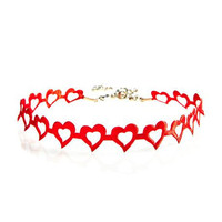 "Love and Madness Open heart ""Heartbreaker"" Choker"