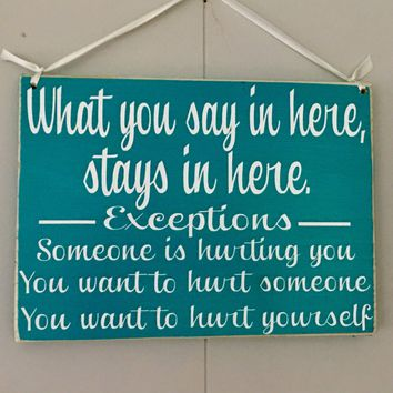 10x8 What You Say Here Wood Sign
