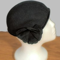 1950's Henry Pollack, Wool Cloche Vintage Hat