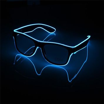 Flashing  Wire Led Glasses CE Certified SunGlasses
