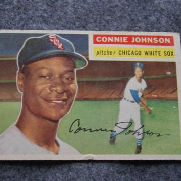 Vintage 1956 TOPPS Baseball Card Number 326 CONNIE JOHNSON Pitcher Chicago White Sox