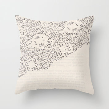 lace book Throw Pillow by Morgan Kendall