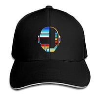 POPYol Daft Punk Helmet Adjustable Peaked Baseball Caps Hats For Unisex