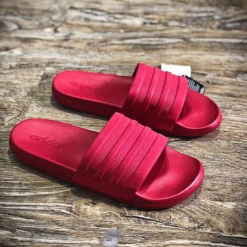 MDIGNW6 Adidas Benassi Swoosh Sandals Style #9 Red Slippers