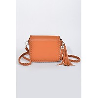 Dream on Camel Cross Body Bag