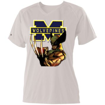 Michigan Wolverines IV Custom Designed Ladies Holloway Zoom Shirt