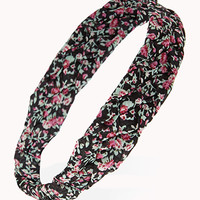 FOREVER 21 Woven Floral Headwrap Coral/Multi One
