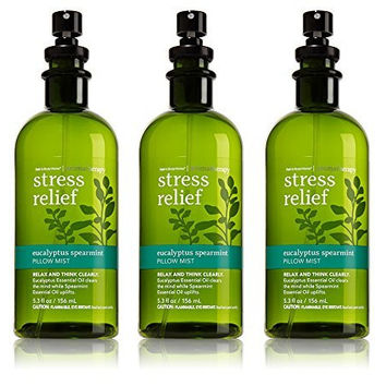Lot of 3 Bath & Body Works Aromatherapy Eucalyptus Spearmint Pillow Mist 5.3 Oz