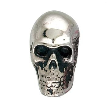 Metal Skull Drawer Dresser Cupboard Pull Knob (Chrome)