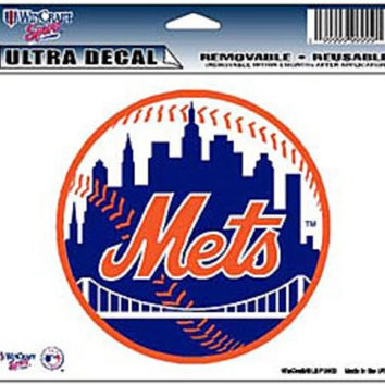 "New York Mets Removable 5""x6"" Car Decal"