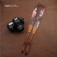Camin  Handmade Leather Camera Strap in Brown by cameraleatherbelt