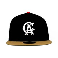California Angels Black And Kahki 59fifty (Green Under) By New Era