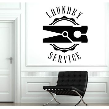 Vinyl Decal Wall Sticker Sing Laundry Room Dry Cleaning Service Clothes Unique Gift (n897)