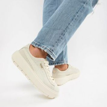 Puma Suede Platform Trace Animal Trainers at asos.com