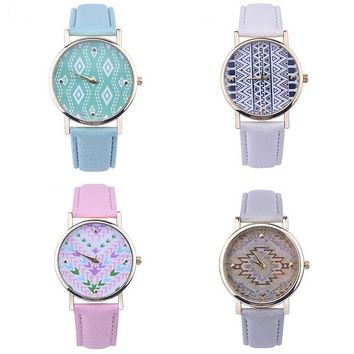 fashion women quartz watches faux leather band watches boho watch gift box 74  number 1