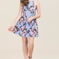 Chelsea Burnout Floral Dress