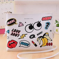 EXCELSIOR Fashion Cartoon Printed Women Graffiti Handbag