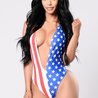 Party In The U.S.A Swimsuit - Flag