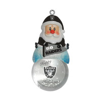 Oakland Raiders Ornament - Santa Snow Globe