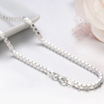 7 Sizes Available Real Pure 925 Sterling Silver Box Chain Neckla ad8b7f57cf