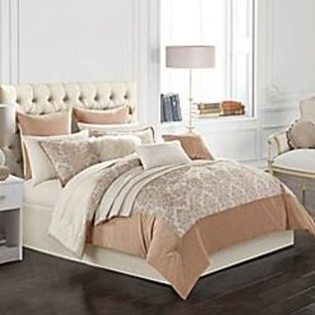 Aurora 14-Piece Comforter Set in Blush