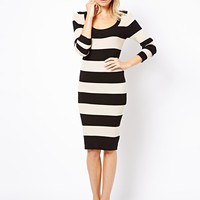 Oasis Knitted Bodycon Stripe Dress