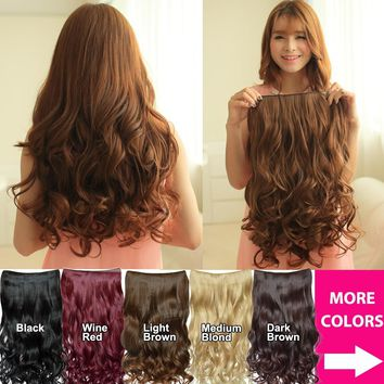 2017 New Hair Fashion Curly Clip In Hair Extensions Cosplay Hairpiece