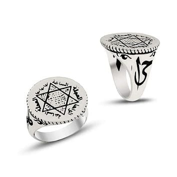 Seal of Solomon david star silver ring