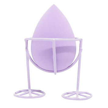 The Creme Shop Please Hold Purple Sponge And Holder Set
