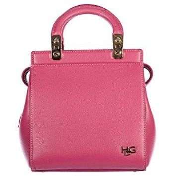 Givenchy women's leather handbag shopping bag purse vintage mini top hdg fucsia