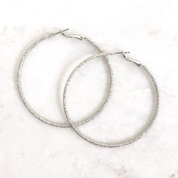 PYT Silver Hoop Earrings