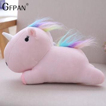 Dropshipping 1pc 22CM  Kawaii Unicorn Super Soft Plush Toy Stuffed Animal Horse Kids Doll Cute Gift for Girls Children