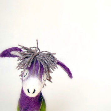Karolina Felt Donkey with floppy ears Art by TwoSadDonkeys