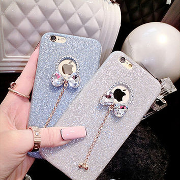 Luxury Candy Crystal Bling Glitter Powder Shine Soft Phone Cases Cover For iPhone 5 5s SE 6 6 plus Case