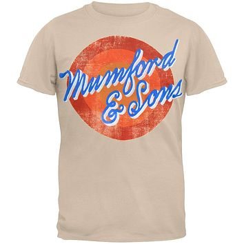 Mumford & Sons - Sun Script 2012 Tour Soft T-Shirt
