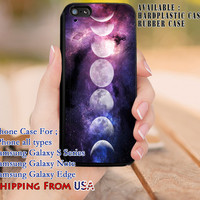 Moon Phases Nebula iPhone 6s 6 6s+ 5c 5s Cases Samsung Galaxy s5 s6 Edge+ NOTE 5 4 3 #art dl8