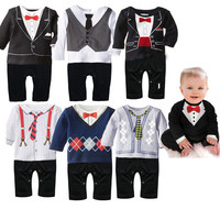 Children's clothing   baby exclusive  boy gentleman of leisure Romper
