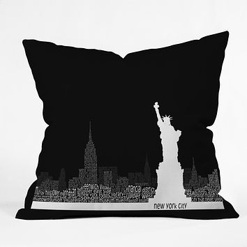Restudio Designs New York Skyline 4 Throw Pillow