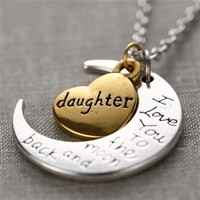 To The Moon & Back Necklace - Daughter