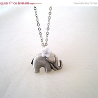Valentine Sale Lovely Elephant Necklace
